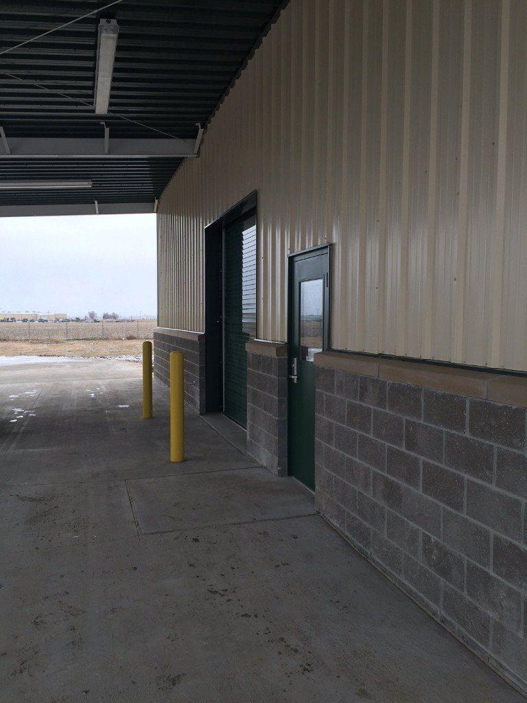 Industrial Building Front and Garage Door