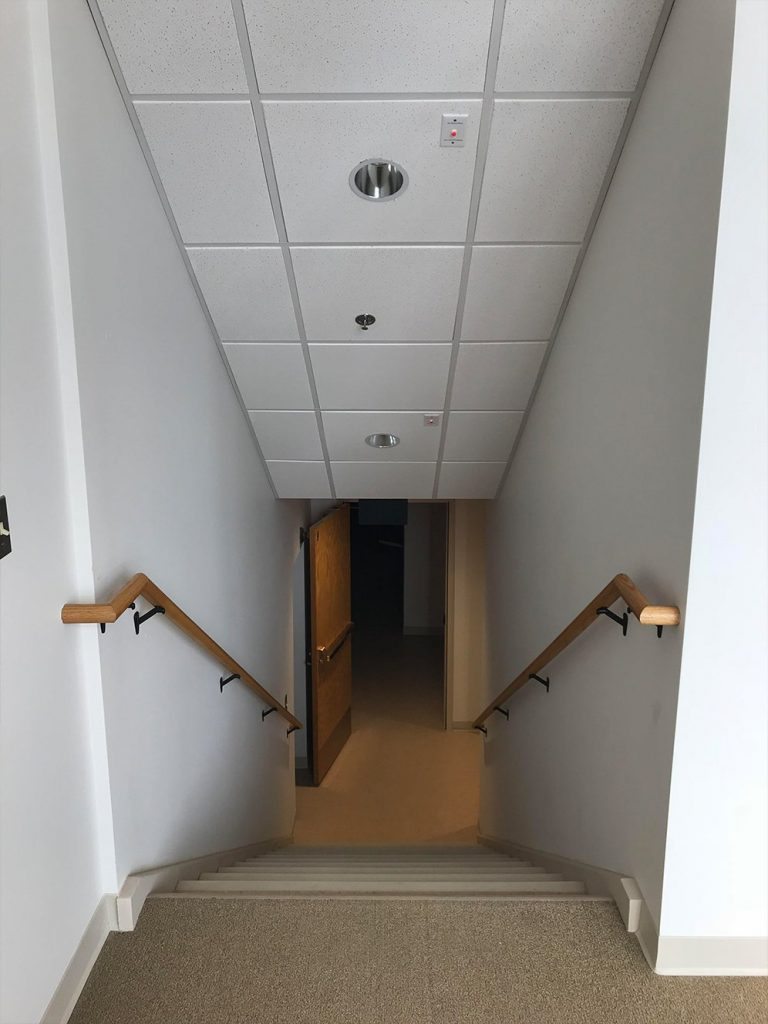 Looking Down Stairwell