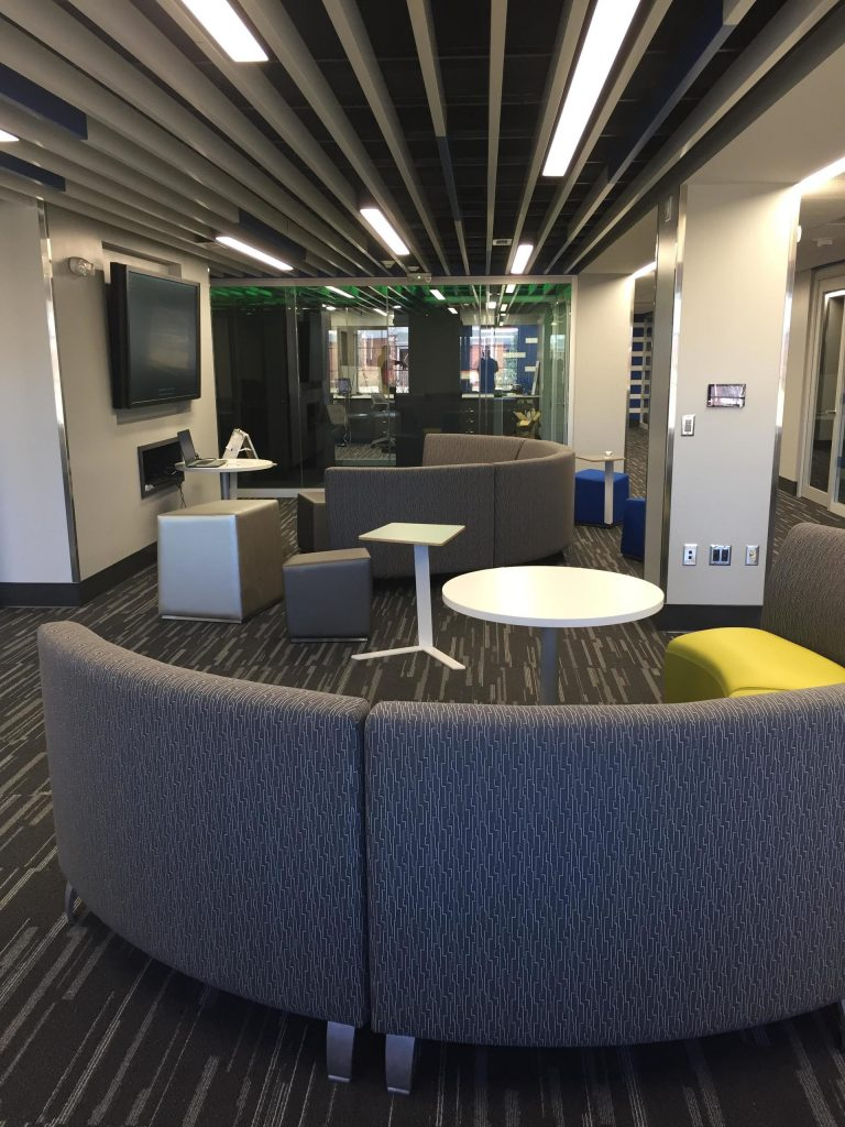 TV and Seating Area
